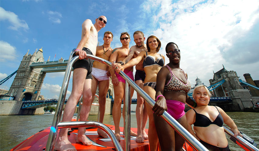 The Undressing Disability shoot 2013 in front of Big Ben, London