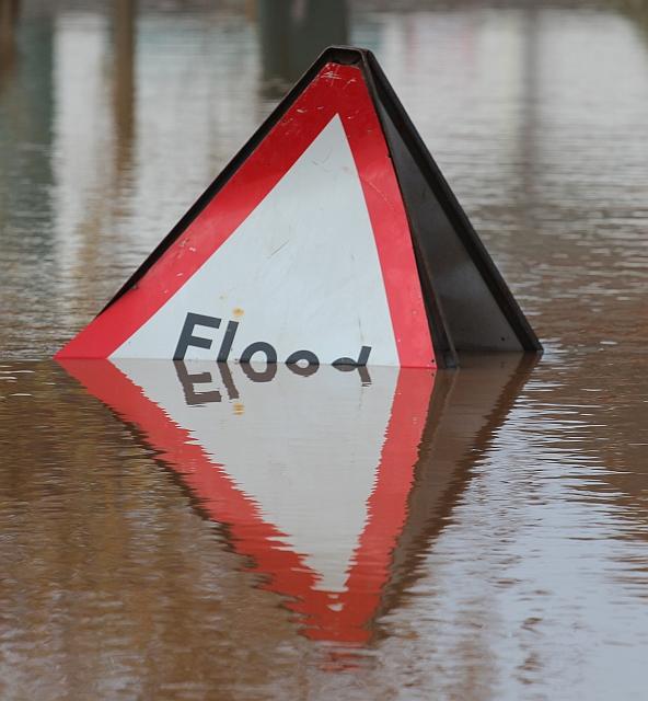 Submerged Flood Sign