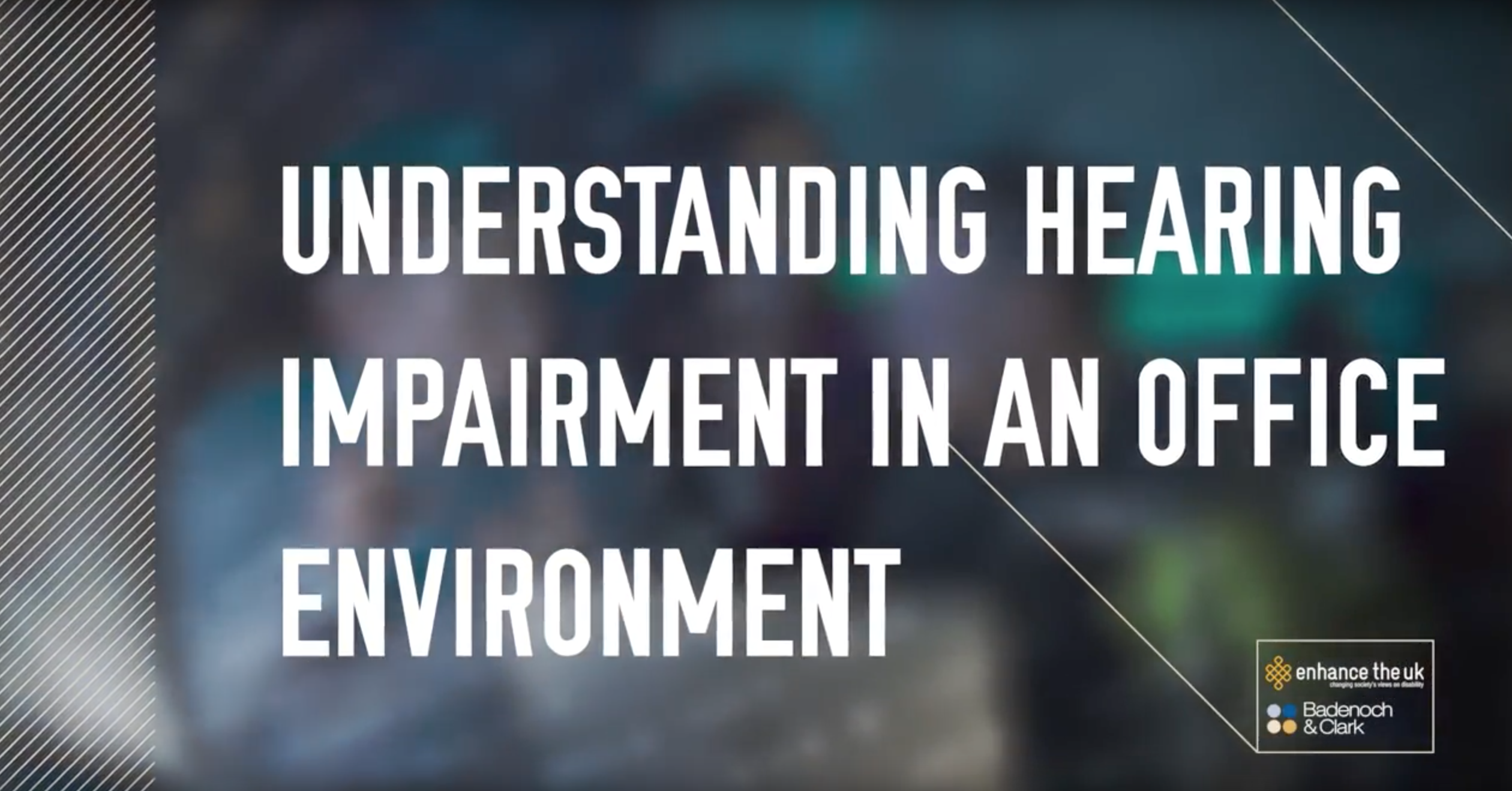 text reading 'Understanding hearing impairment in an office environment'