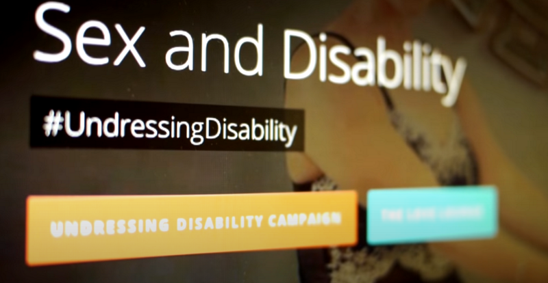 Screenshot of Sex and Disability section of the website, showing Undressing Disability Hashtag