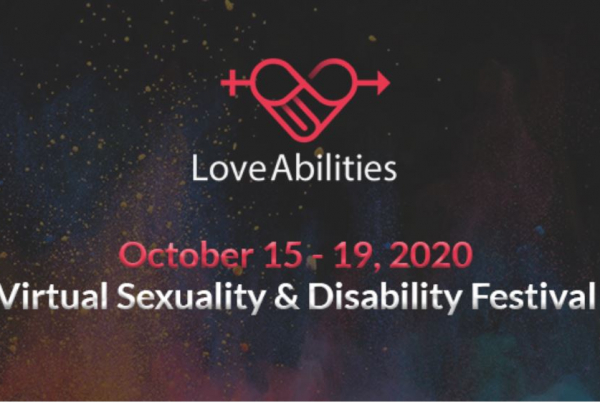The Love Abilities Festival logo against a dark background with the dates 15th - 19th October 2020