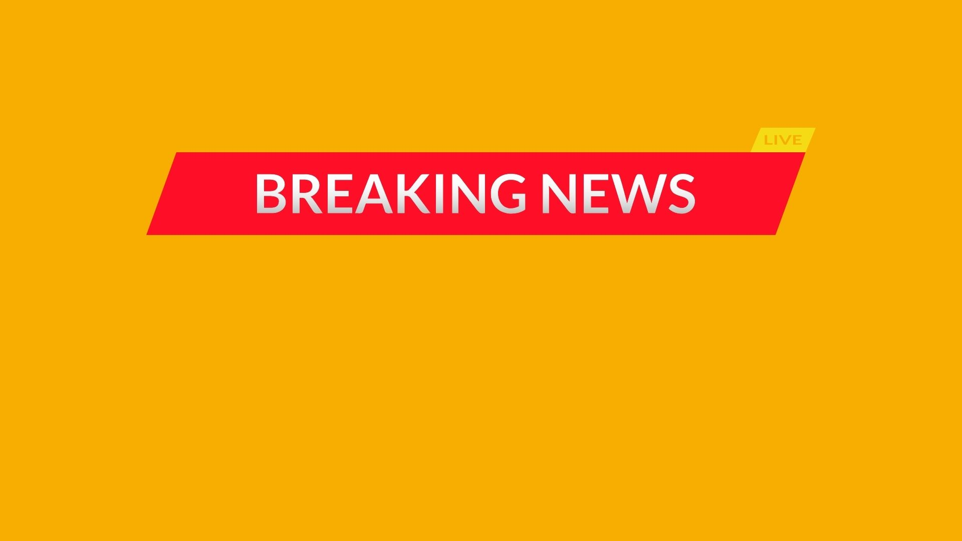 The words 'Breaking News' written in a tv news format against a yellow background